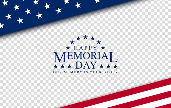 Memorial day with, vector image, poster and banner for the holiday and sales day. American flag on the background of a wooden board with the inscription.