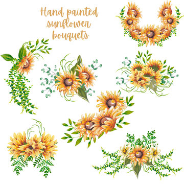 acrylic sunflower bouquets