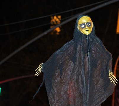 Close-up Of Halloween Costumes At Night