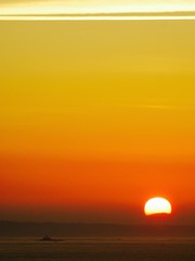Foto op Aluminium Oranje Scenic View Of Sea Against Sky During Sunset