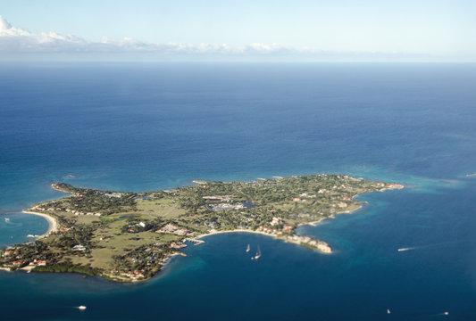 Long Island, Antigua and Barbuda - Aerial View