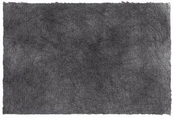 海苔みたいな黒くちぎった和紙