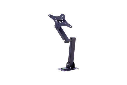 Arm mount for television on white background