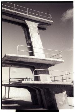 Diving Platform Against Sky
