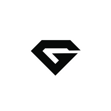 g 6 initial black logo icon design