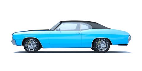 Papiers peints Vintage voitures 3D rendering of a brand-less generic car in studio environment