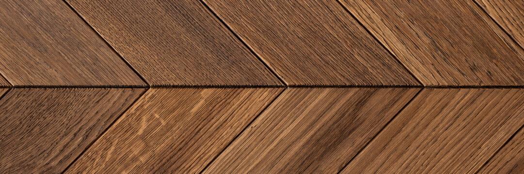 Panorama of hardwood floor parquet