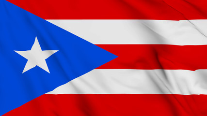 puerto rico flag is waving 3D animation. puerto rico flag waving in the wind. National flag of puerto rico. 3D rendering Waving flag design.