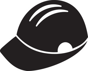 Builder Manhard hat black icon