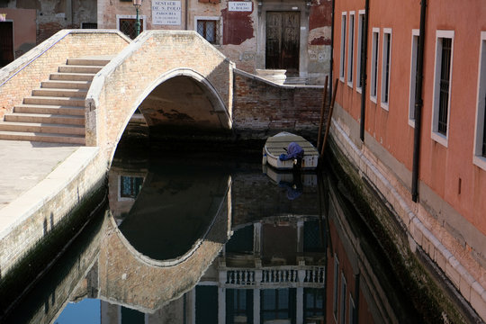 Clear water is seen in Venice's canals due to less tourists, motorboats and pollution, as the spread of the coronavirus disease (COVID-19) continues, ahead of Earth Day