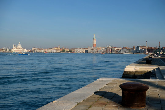 Clear water is seen in Venice Saint Mark's Basin due to less tourists, motorboats and pollution, as the spread of the coronavirus disease (COVID-19) continues, ahead of Earth Day