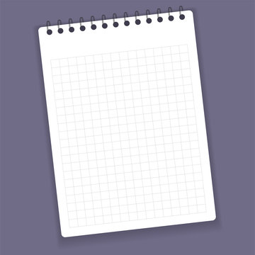 Realistic notebook or notepad with binder. Memo note pad or diary paper page templates. Vector illustration