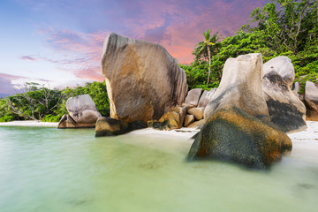 Anse Source d'Argent tropical beach in Seychelles