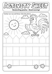 Activity sheet handwriting practise topic 2