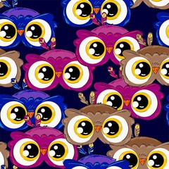 Wall Mural - Owl pattern seamless. Vector illustration. Design print for textile, fabric.