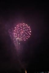 Autocollant pour porte Grenat paysage dans la nuit feux d'artifice Gradignan 14 juillet
