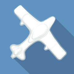 vector illustration, air plane on blue background