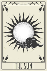 Poster Retro sign tarot card