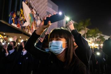 Photo sur Aluminium Hong-Kong HONG KONG - PROTEST - RASSEMBLEMENT DES ETUDIANTS