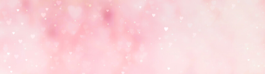 Abstract pink background with hearts - concept Mother's Day, Valentine's Day, Birthday - spring colors  Wall mural