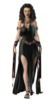 Sexy CGI Mage Pinup Front View