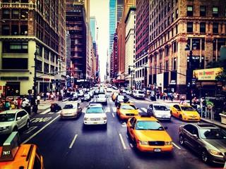 Fototapeta Traffic On City Street