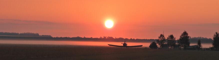 Photo sur Plexiglas Corail Samotny samolot