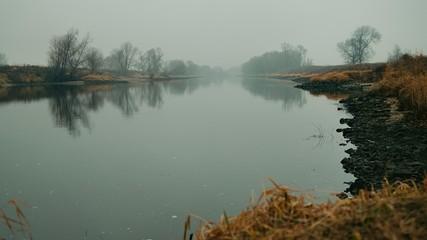 Fototapeta widok w głąb rzeki obraz