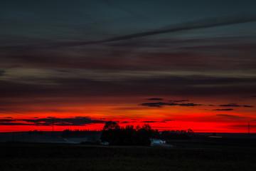 Printed roller blinds Bordeaux Mroczny zachód słońca