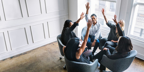 Positive women teamwork Fotomurales