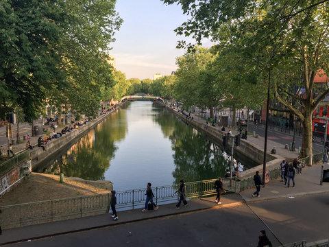Canal Saint Martin in Summer, Paris/France