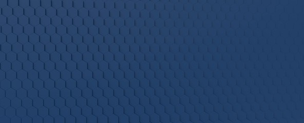 Fotobehang - Science and technology Royal Navy Blue Hexagonal Tiles Abstract Background
