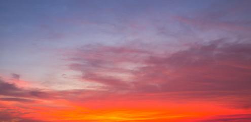 Dusk sky, Evening colorful sky dramatic and wonderful.