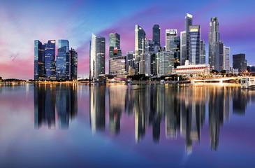 Fotomurales - Singapore skyline - downtown city