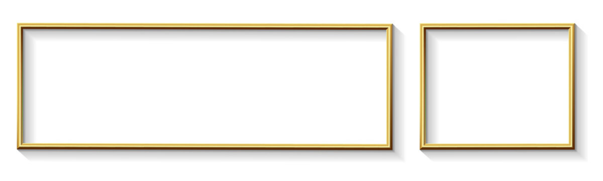Golden Modern Wide Frame Border Design for Advertisement Banner