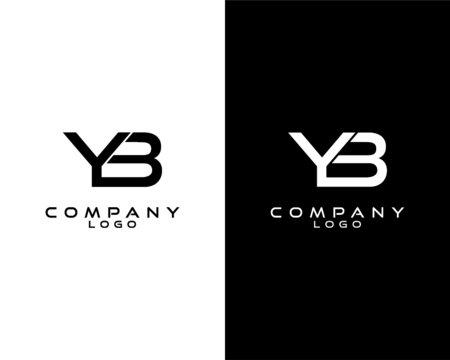 YB, BY modern letter logo design template vector . vector logo for company logo identity