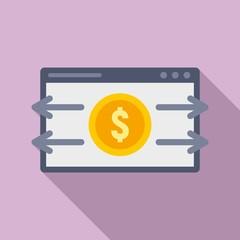 Web money transfer icon. Flat illustration of web money transfer vector icon for web design