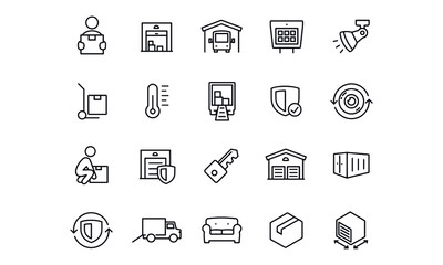 Self Storage icons vector design