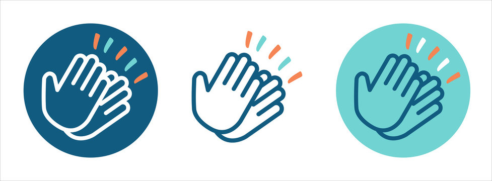 Set of Pictograms clapping hands