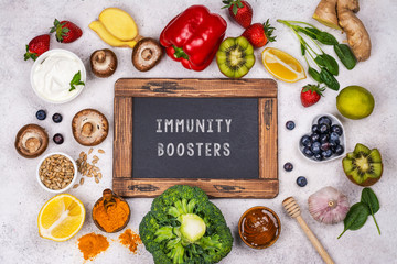 Photo sur Plexiglas Magasin alimentation Immunity boosters food