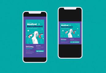 Medical Recruitment Social Media Layout