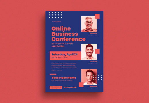 Monochrome Business Conference Flyer Layout