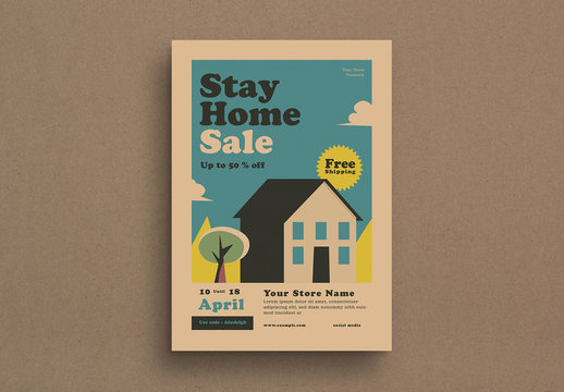 Stay Home Sale Flyer Layout
