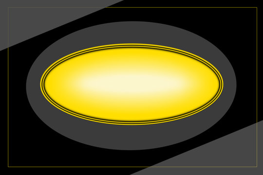 yellow button on black background