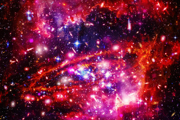 Star field in space a nebulae and a gas congestion. The elements of this image furnished by NASA.