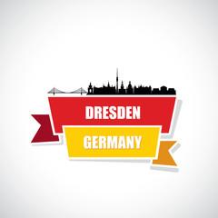 Wall Mural - Dresden skyline - Germany - vector illustration