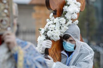 Orthodox Good Friday Easter celebration in Bucharest