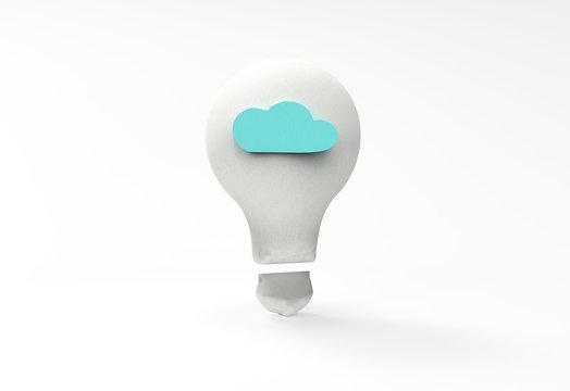 Light bulb with a blue cloud