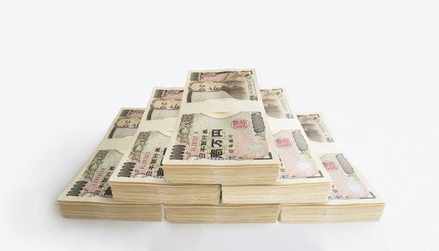 600万円の札束-白背景
