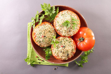 Wall Mural - provencal tomato, baked tomato with crumbs